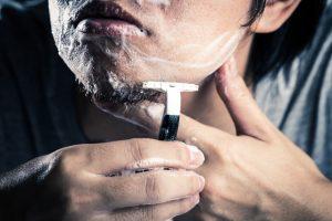 カミソリでの髭剃り時間
